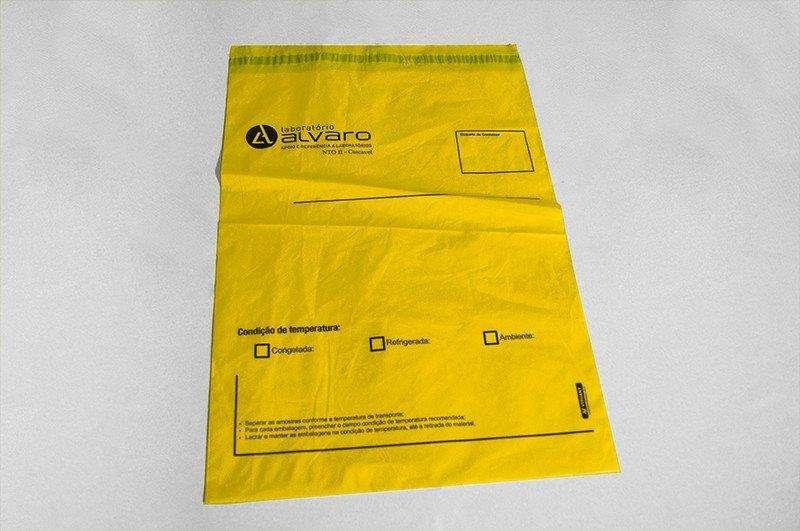 Envelope de segurança com lacre