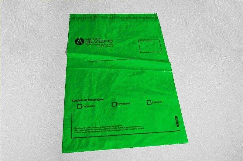 Envelopes para resultado de exames