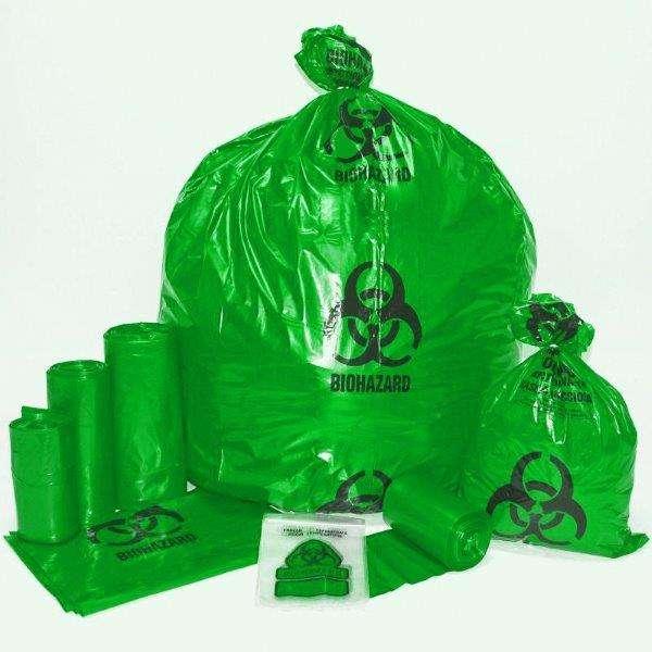 Sacos plásticos para lixo hospitalar