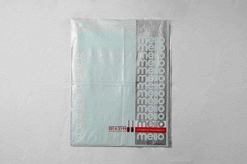 Envelope plástico para exames