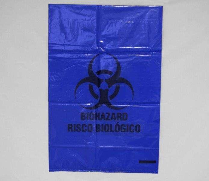 Saco de lixo leitoso infectante